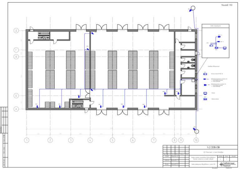 Проект видеонаблюдения на складе