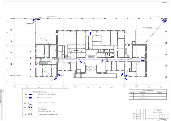 Проект системы видеонаблюдения в офисном здании
