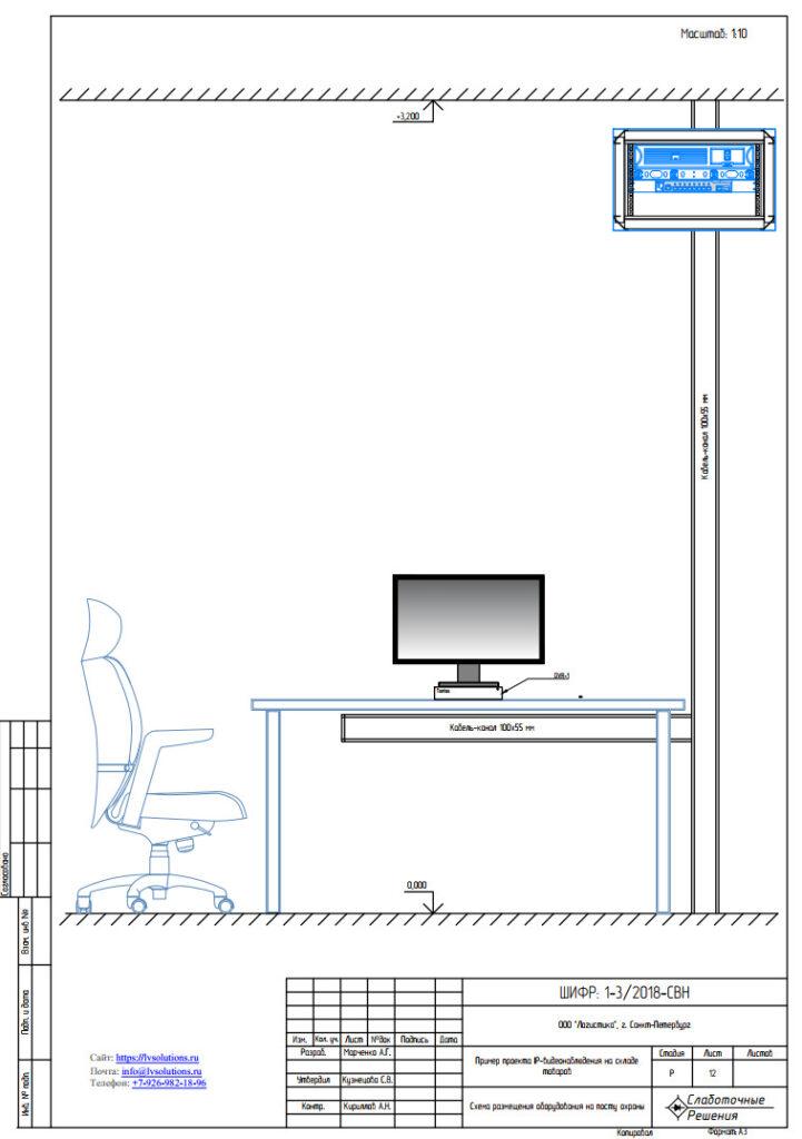 проект системы видеонаблюдения